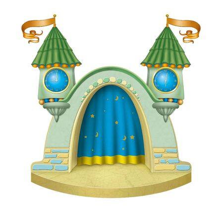 Cartoon childrens stage.
