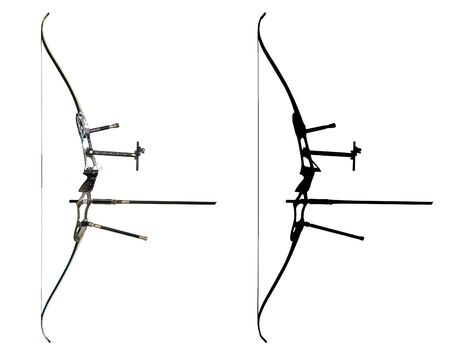 archer: Sport bow isolated on white with contour