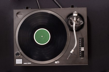Direct drive turntable system. Top view