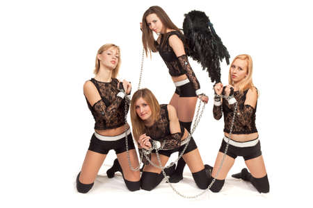 Image of a dance group consisting of four girls photo