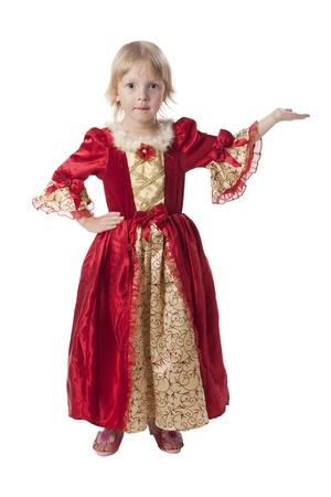 little princess: Little girl dressed like a pretty princess Stock Photo