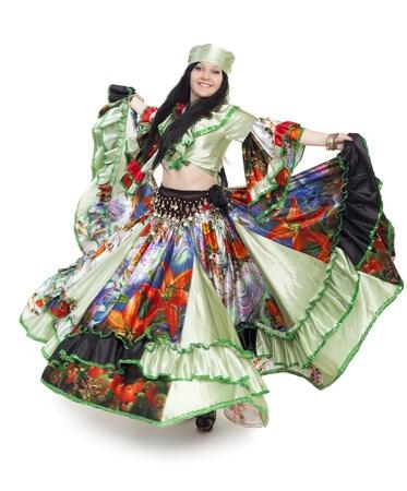 Imagen de la bailarina gitana en la vestimenta tradicional en movimiento Foto de archivo - 14430347