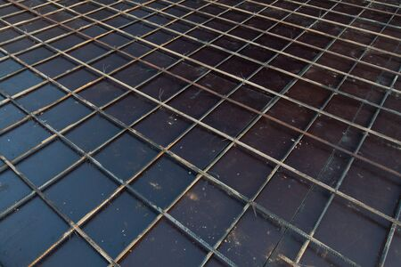 reinforcing bar: reinforcement metal framework Stock Photo