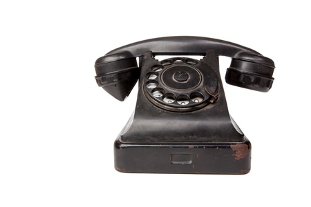 dialplate: Image of an old phone. Isolated. Including clipping pass