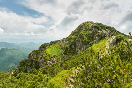 Image of a beautiful carpathian mountains  Marmaros massif in eastern Carpathians