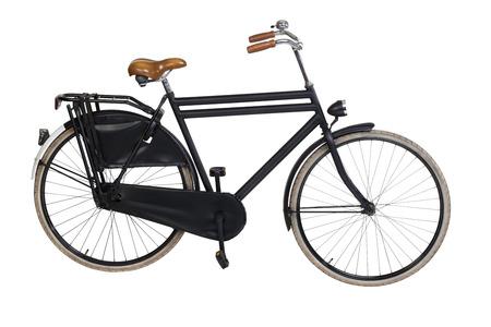 bicyclette: Vintage v�lo hollandais isol� sur blanc. Y compris le chemin de d�tourage
