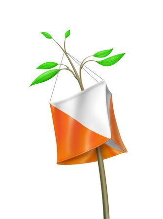 orienteering: Illustration of control point symbol in orienteering