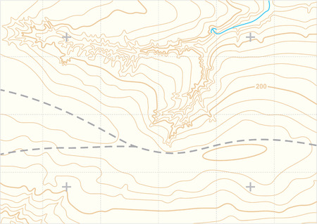 topographic: Abstract topographic map Illustration