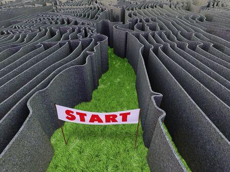 frightful: Frightful maze Stock Photo