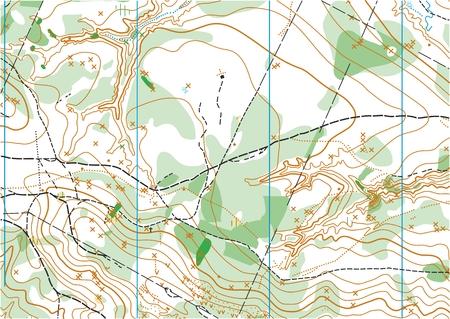 orienteering: Fragment of topographic vector map for orienteering sport