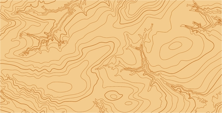 isolines: Abstract vector topographic map with isolines in brown colors