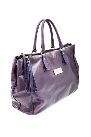 Bolso Para Mujer Violeta En El Fondo Blanco Imagen de