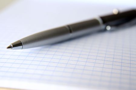 pen on the mathematics page photo