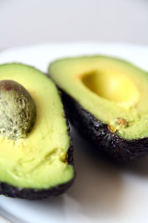 avocado on the plate