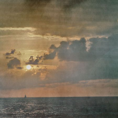 textured picture of the sea at evening photo