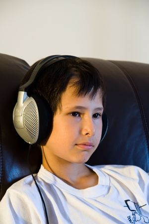 child with stereophones Stock Photo - 1165830
