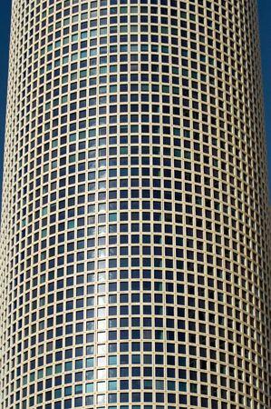 azrieli center: windows of the round building of Azrieli Center