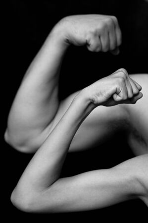 hands of adult and young testing the power