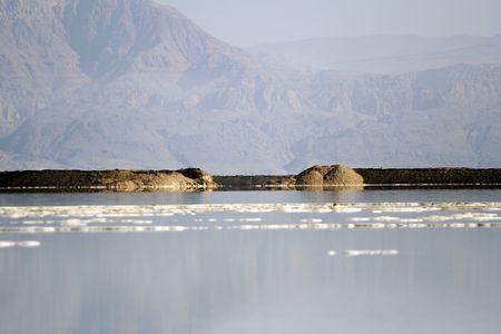 salt on the water of dead sea