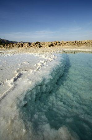 salt bath with a blue water, Dead sea Stock Photo - 2016571