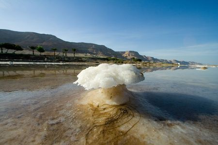 death valley: strange salt island of the dead sea, Israel