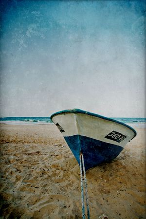 seascape scenery old fashion textured picture