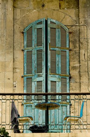 fragment of the old building wall, Jaffa, Israel Stock Photo