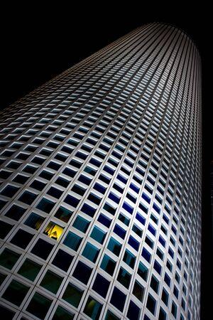 night view of Azrieli center,round building, Tel Aviv, Israel