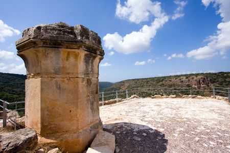 fragment of ancient building, north of Israel Stock Photo - 5622175