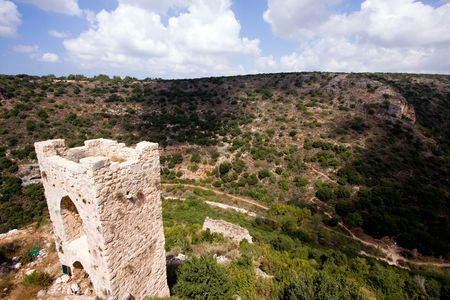 fragment of ancient building, north of Israel Stock Photo - 5622181