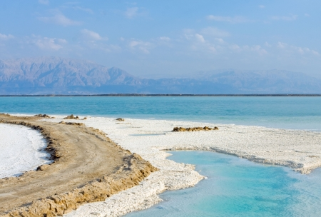 salt of Dead sea Israel photo