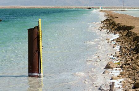 metering: metering system of Dead sea Israel Stock Photo