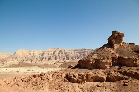 moment of old mountain, Timna Valley near Eilat, south of Israel Stock Photo - 9430496