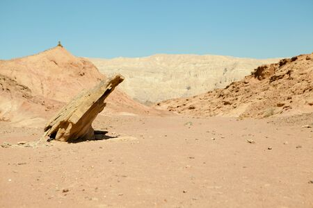 moment of old mountain, Timna Valley near Eilat, south of Israel