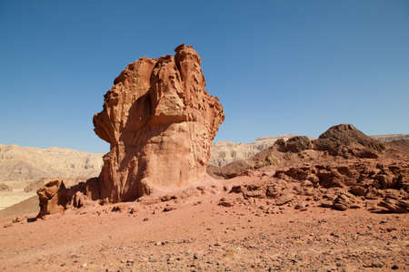 moment of old mountain, Timna Valley near Eilat, south of Israel Stock Photo - 9430498