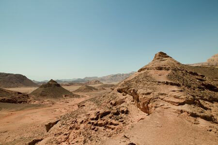 moment of old mountain, Timna Valley near Eilat, south of Israel Stock Photo - 9430487