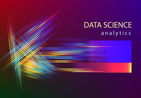 Big data science information analytics vector flat illustation. artificial intelligence