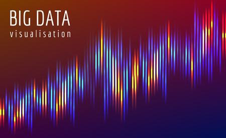 Big data flow vector complex visualisation.