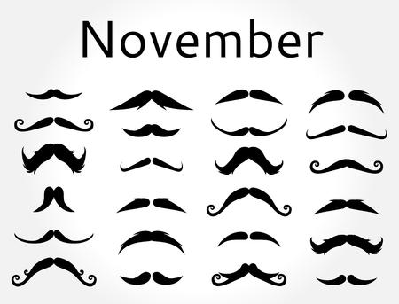 Mustache vector set.