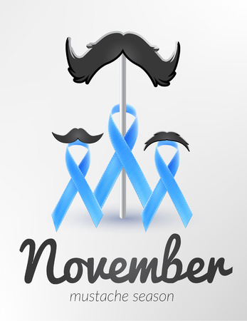 Prostate cancer awareness  blue ribbon month november