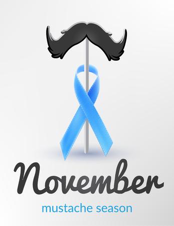 Consapevolezza del cancro alla prostata nastro blu mese novembre