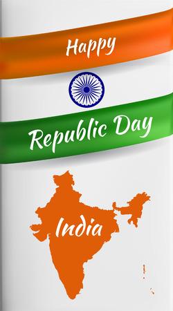 India republic day 矢量图像