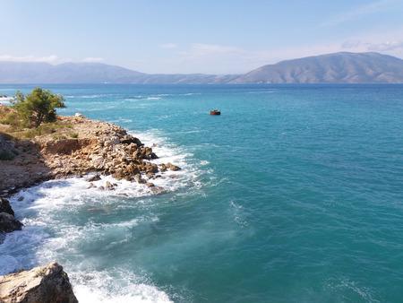 Zomer Albanië strand zeezicht