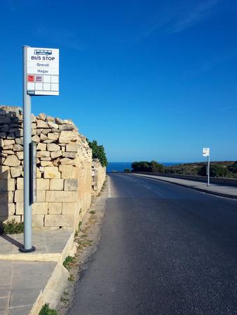 Malta road bus stop