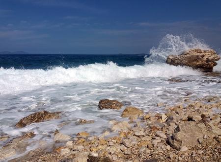 Summer Albania beach sea view Imagens