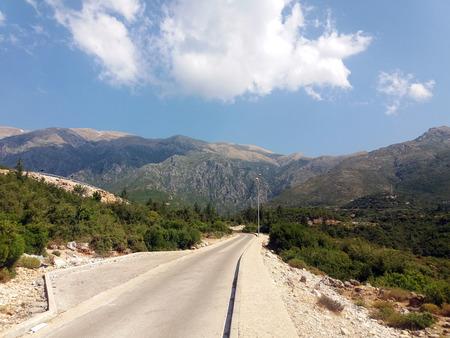 Albania mountains road