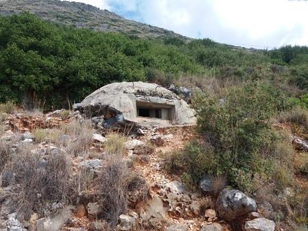 Albania mountains bunker Stockfoto