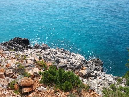 Summer Albania beach sea view Stockfoto