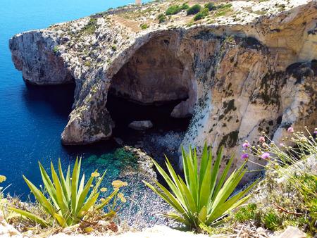 Malta Blue Grotto cave
