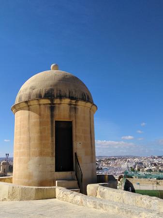 Old tower at Valetta waterfront Malta